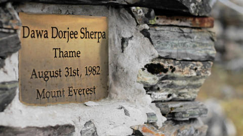 Dawa Dorjee Sherpa plaque Footage