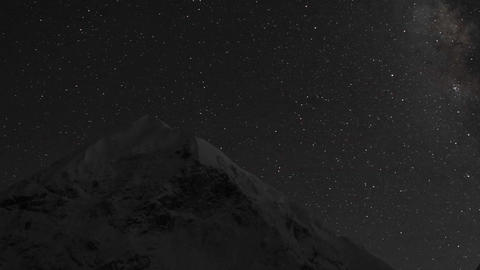 Stars over Cho Oyu Stock Video Footage