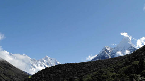 Everest and Lhotse Stock Video Footage