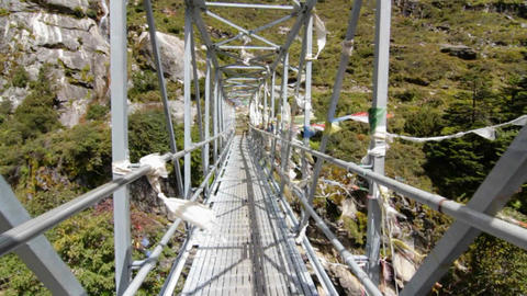 Bridge crossing Stock Video Footage