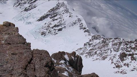Climbers headed to West Ridge Stock Video Footage
