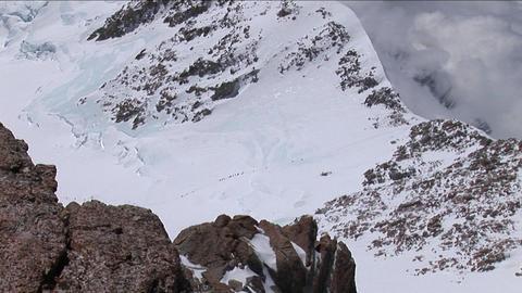 Climbers headed to West Ridge Footage