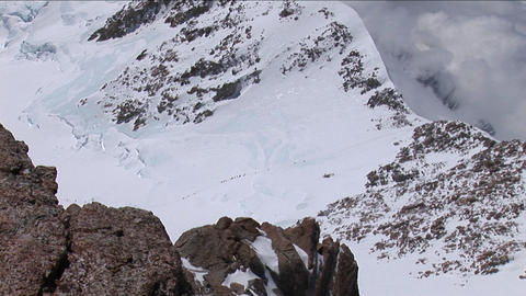 Climbers headed to West Ridge Stock Video Footage