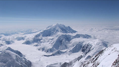 Denali's wife/Mount Foraker from Denali Stock Video Footage