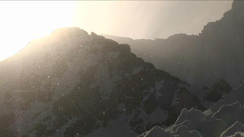Snow falling gentle Stock Video Footage