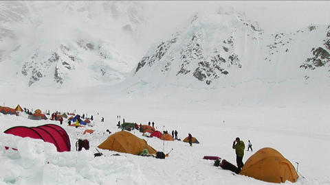Basecamp at Denali Stock Video Footage