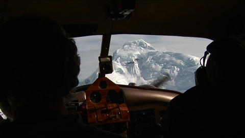 Peak from cockpit Stock Video Footage