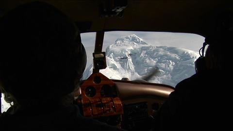 Peak from cockpit Stock Video Footage