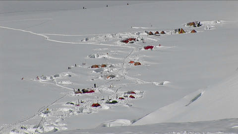 Camp from above Stock Video Footage
