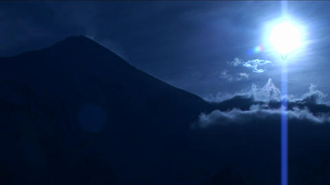 Mountain top in a blue light Footage