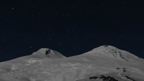 Meteor shower over Mount Elbrus Footage