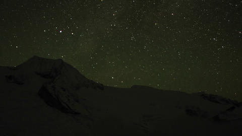 Starry night over Himalayas Footage
