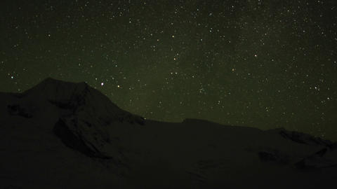 Starry night over Himalayas Stock Video Footage