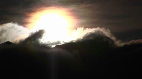 Timelapse of clouds moving Stock Video Footage