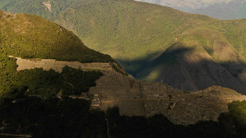 Machu Picchu from a distance in shade Footage