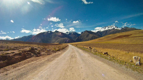 Driving through the Sacred Valley Stock Video Footage