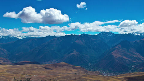 Sacred Valley lookout over the Andes Stock Video Footage