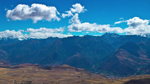 Sacred Valley lookout over the Andes Footage