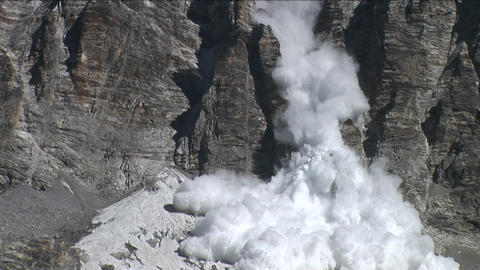 Avalanche at basecamp Stock Video Footage