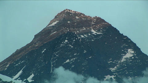 Everest summit light up in late day light Stock Video Footage