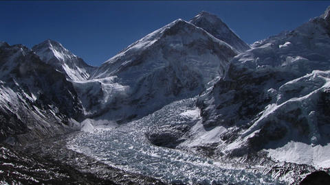 Everest from Kala Patthar Stock Video Footage