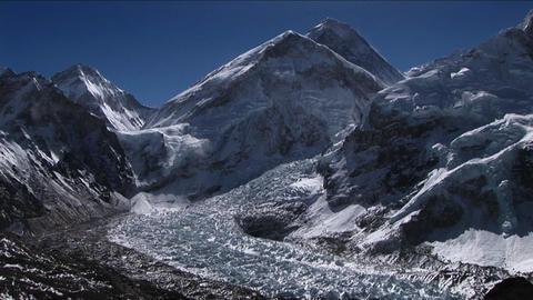 Everest from Kala Patthar Stock Video Footage
