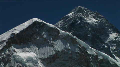 Everest and Lho La from Kala Patthar Stock Video Footage