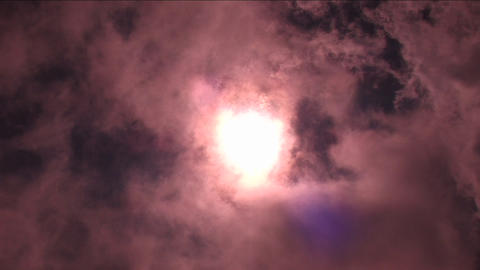 Sun covered by clouds Stock Video Footage