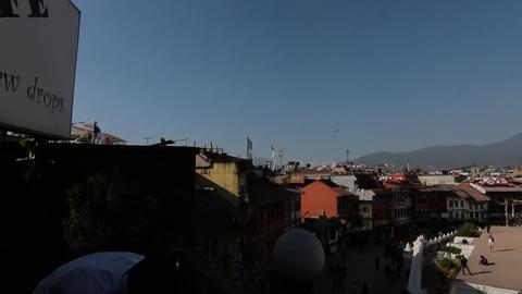 Wide-view of Boudhanath in Kathmandu Stock Video Footage