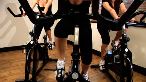 Beautiful girls enjoy working out at the gym Footage