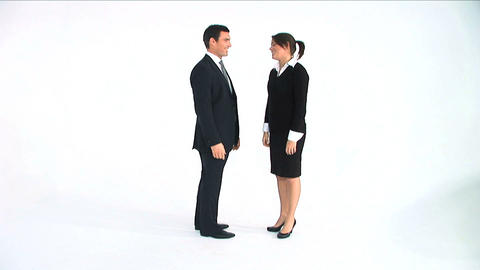 A business situation, isolated on white Stock Video Footage