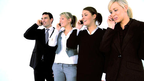 Business people on the phone, motion jib Footage