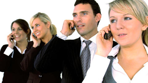 Business people with the phone Stock Video Footage