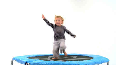 Boy on Trampoline Footage