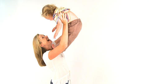 Mum and baby Stock Video Footage