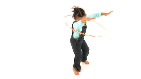 Girl and Hula Hoop Footage