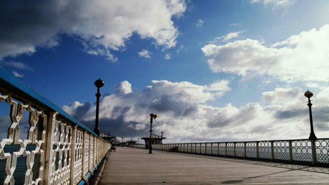 Time lapse of a pier Stock Video Footage