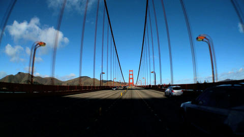 Timelapse point-of-view with fish-eye lens of driving on... Stock Video Footage