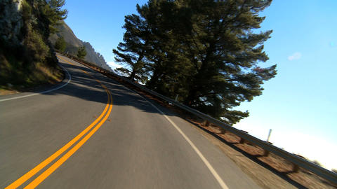 Point-of-view driving the Pacific Coast highway Stock Video Footage
