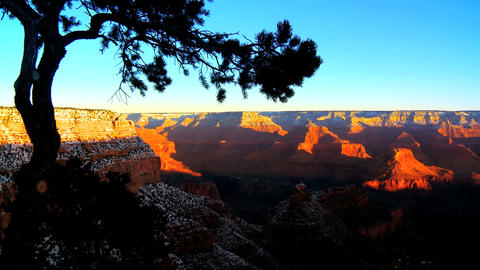 Timelapse sunrise over Grand Canyon Stock Video Footage