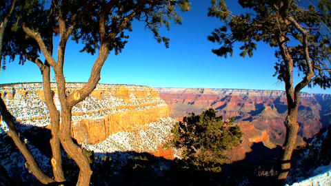 Panoramic views of Grand Canyon,Arizona Stock Video Footage