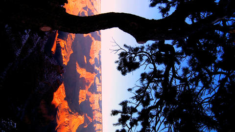 Vertical timelapse sunrise over the Grand Canyon Arizona Stock Video Footage