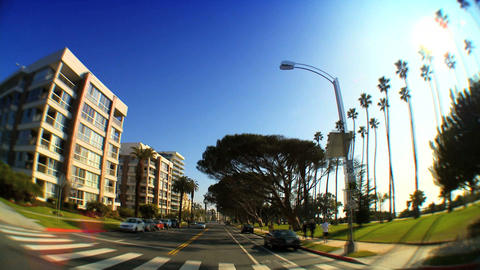 Point-of-view with fish-eye driving along the Pacific Coast Footage