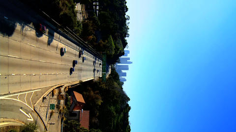 Vertical traffic in downtown Los Angeles Stock Video Footage