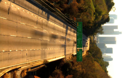 Vertical timelapse of traffic in downtown Los Angeles Stock Video Footage
