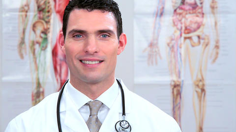 Male doctor working in clinical healthcare Stock Video Footage