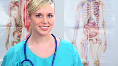 Young healthcare staff working in clinical healthcare Stock Video Footage