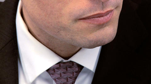 Close shot of male member of business team expanding new... Stock Video Footage