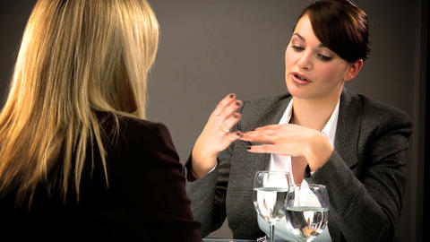 Ambitious healthy living young person attending a business interview Footage