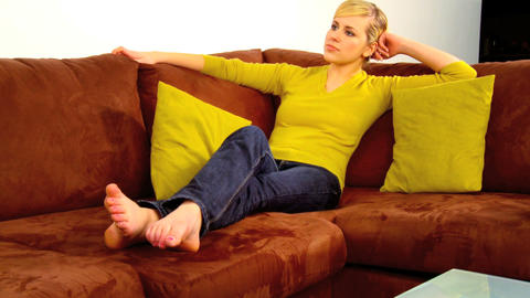 Relax on the Sofa Stock Video Footage
